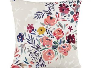 Multi Floral Throw Pillow