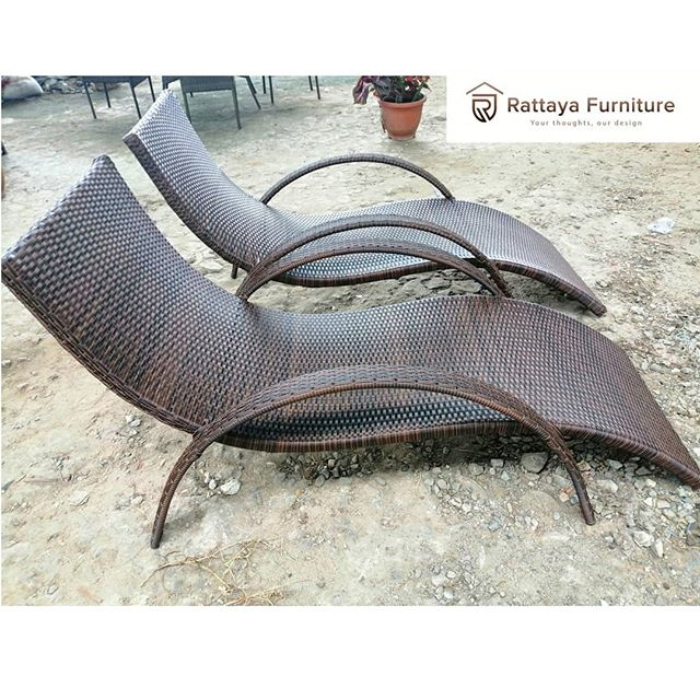 Curved Sunlounger