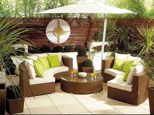 DOUBLECRESCENDO Rattan-Outdoor-SOFA-Set
