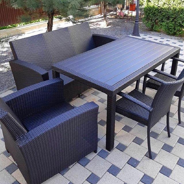 ERITREA Sofa Mix Rattan Outdoor Dining Set
