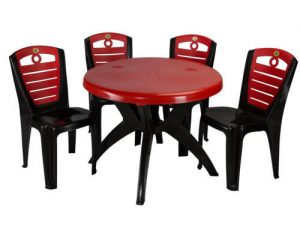 Four Seater Plastic Table Chair Set