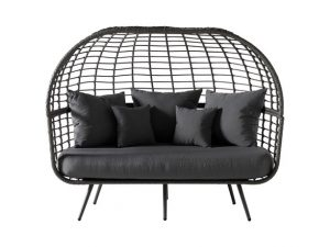 grey wicker daybed