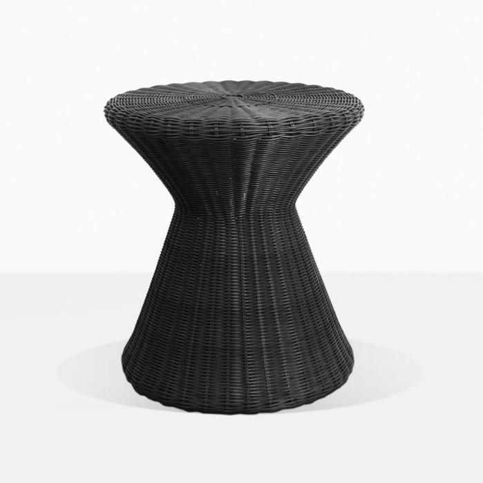 Wicker hourglass side table