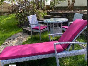 stylish sun lounger